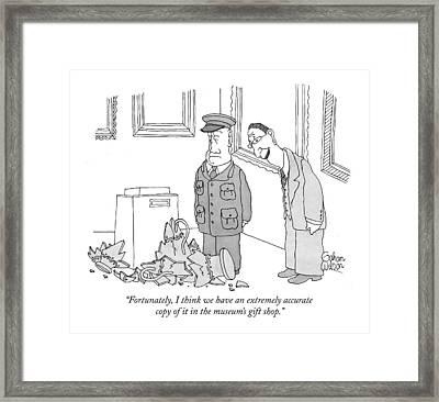 Fortunately Framed Print