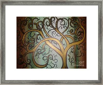Fortune Tree Framed Print by Elena  Constantinescu