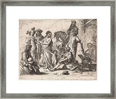 Fortuneteller, Cornelis De Wael Framed Print by Cornelis De Wael