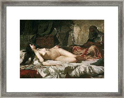 Fortuny, Mariano 1838-1874. Odalisque Framed Print by Everett