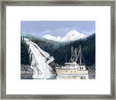 Forty Foot Nordhavn Northern Anchorage Framed Print by Jack Pumphrey