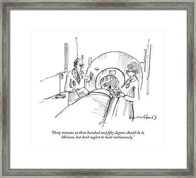 Forty Minutes At Three Hundred And Fifty Degrees Framed Print by Michael Crawford
