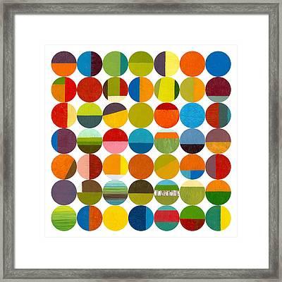 Forty Nine Circles 2.0 Framed Print