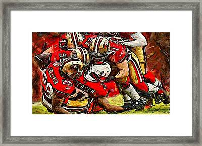 Forty Niners Framed Print by Carrie OBrien Sibley
