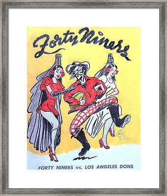 Forty Niners Vs Los Angeles Dons Framed Print by Pg Reproductions