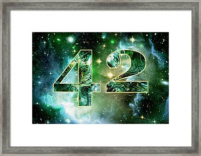 Forty Two Framed Print