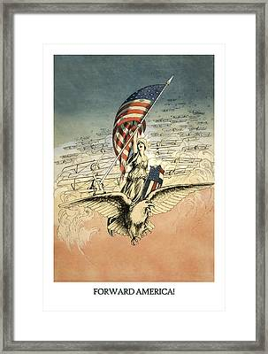 Forward America Framed Print by Aged Pixel