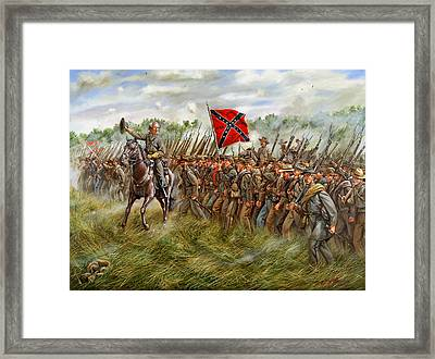 Forward To The Foe Framed Print