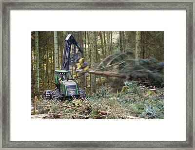 Forwarder Forestry Vehicle Framed Print by Ashley Cooper