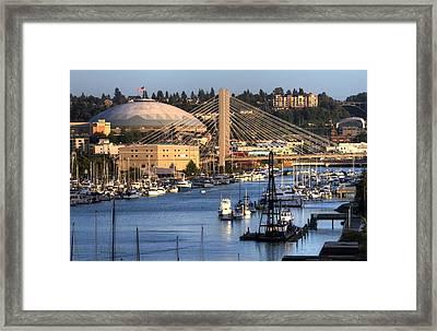 Foss Waterway Tacoma Framed Print