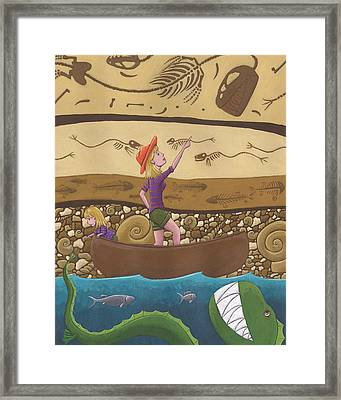Fossils Framed Print by Christy Beckwith