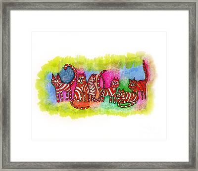 Foster Kittens Framed Print by Joy Calonico