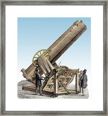 Foucault Reflecting Telescope Framed Print by Sheila Terry