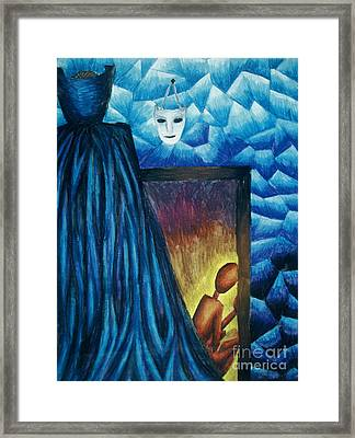Found Amongst The Ice Crystals Framed Print by Coriander  Shea