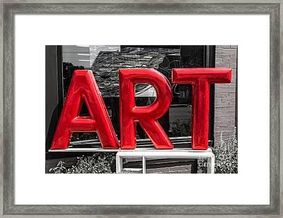 Found Art Framed Print
