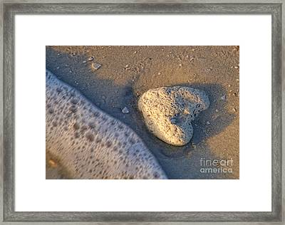 Framed Print featuring the photograph Found Heart by Peggy Hughes