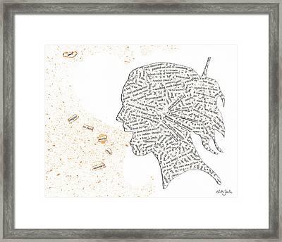 Found Poetry Silhouette Framed Print