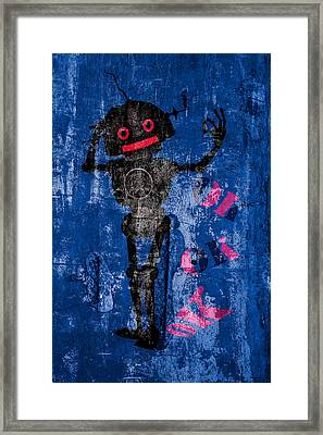 Foundation Number 102 Robot Graffiti  Framed Print by Bob Orsillo