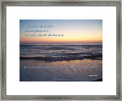 Founded Upon The Seas Framed Print by Paula Tohline Calhoun