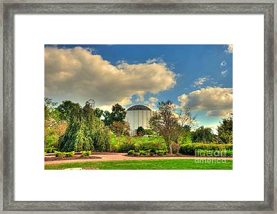 Founders Hall From The Garden Framed Print