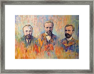 Founders Of Dashnaktsutyun Framed Print by Meruzhan Khachatryan