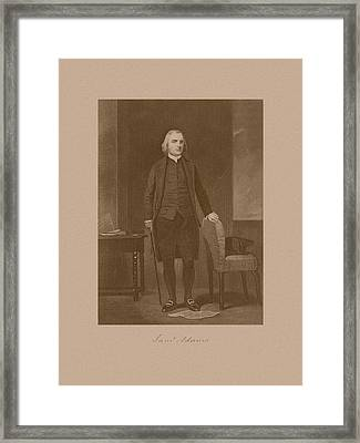 Founding Father Samuel Adams Framed Print by War Is Hell Store