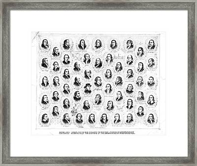 Founding Fathers 1876 Framed Print by Padre Art