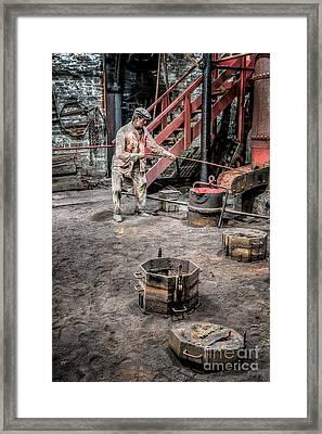 Foundry Worker Framed Print