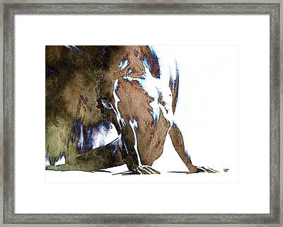 Fount IIi - Textured Framed Print