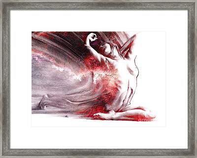 Fount Iv Textured Framed Print