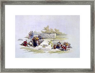 Fountain At Cana  Framed Print