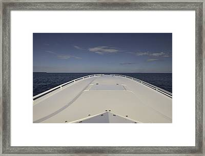 Fountain At Speed Framed Print