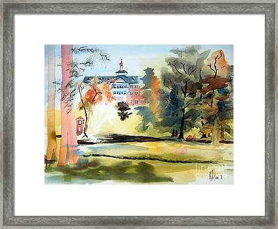 Fountain At The Baptist Home Framed Print by Kip DeVore