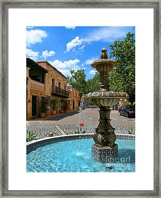 Fountain At Tlaquepaque Arts And Crafts Village Sedona Arizona Framed Print