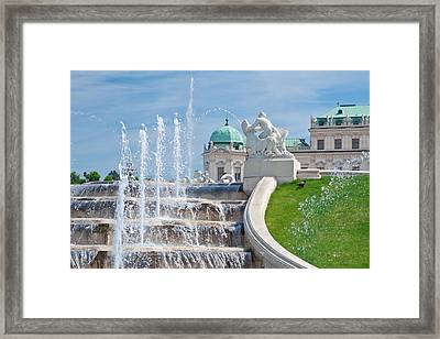 Fountain Cascades Framed Print by Viacheslav Savitskiy