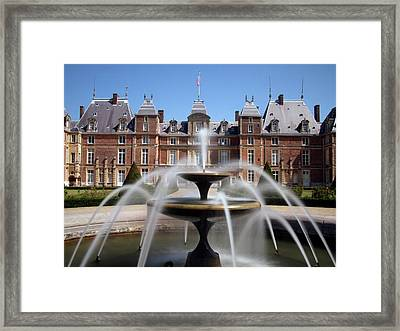 Fountain, Chateau, Eu, Normandy, France Framed Print by Alex Bartel