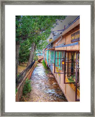 Framed Print featuring the photograph Fountain Creek Behind The Avenue by Lanita Williams