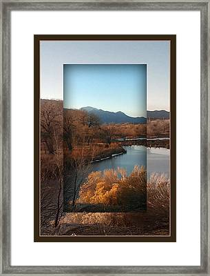 Fountain Creek To Pikes Peak Framed Print by Michelle Frizzell-Thompson