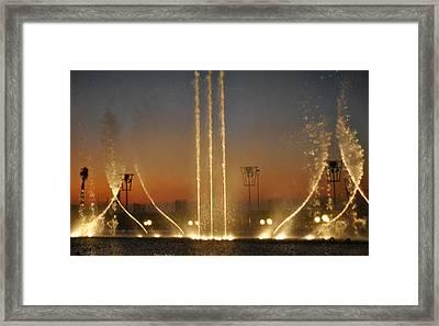 Fountain Framed Print by Diaae Bakri