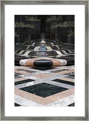 Framed Print featuring the photograph Fountain Flow by Glenn DiPaola
