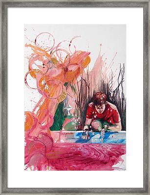Fountain Full Of Blood Framed Print
