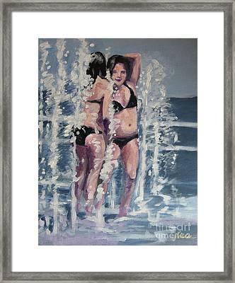 Fountain Fun Framed Print