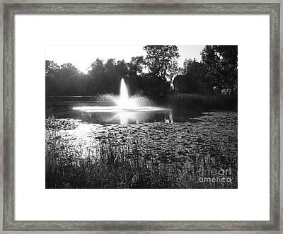 Fountain Framed Print by Ginny Gaura