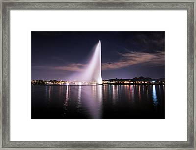 Fountain Hills At Night Framed Print