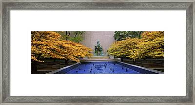 Fountain In A Garden, Fountain Of The Framed Print by Panoramic Images