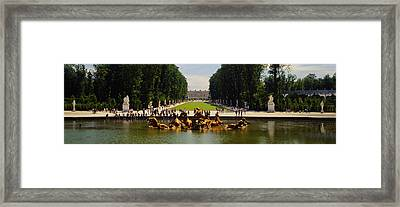 Fountain In A Garden, Versailles, France Framed Print by Panoramic Images