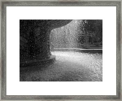 Fountain In Black And White Framed Print