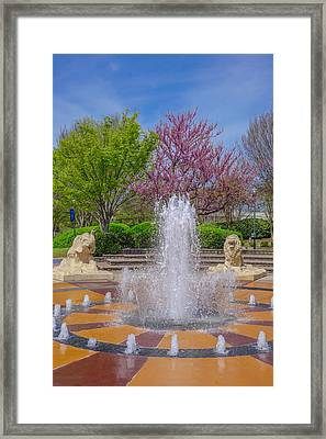 Fountain In Coolidge Park Framed Print