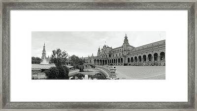 Fountain In Front Of A Building, Plaza Framed Print by Panoramic Images