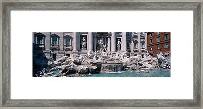 Fountain In Front Of A Building, Trevi Framed Print